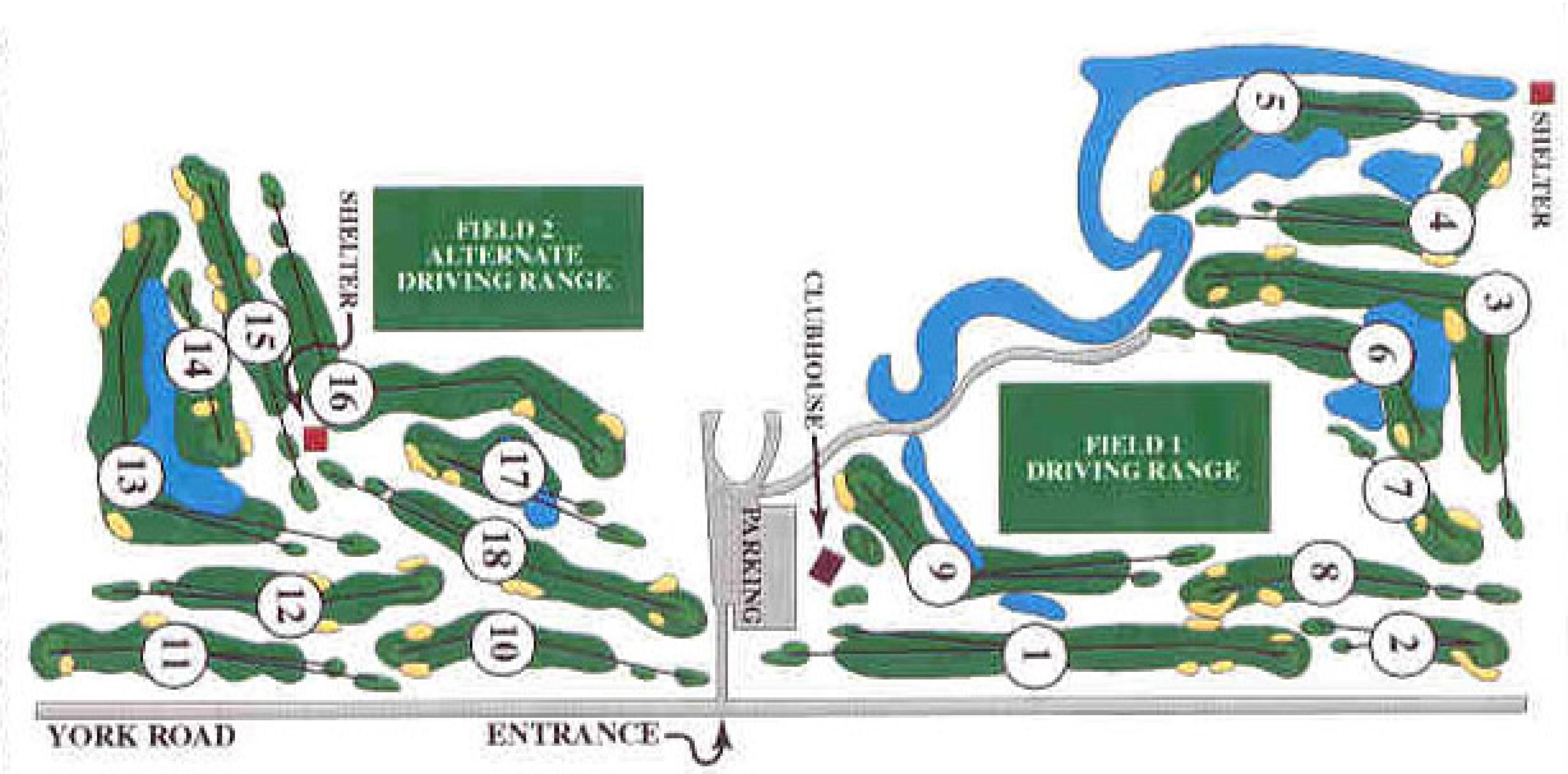 Course Map Oak Brook Golf Club